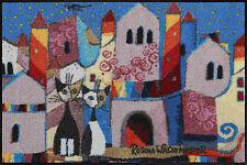 EFIA SALONLOEWE   WOHNMATTE   LITTLE TOWN   ROSINA WACHTMEISTER  50x75