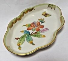 Herend Porcelain Pin Tray  Dish QUEEN VICTORIA  Pattern 7705 VBO