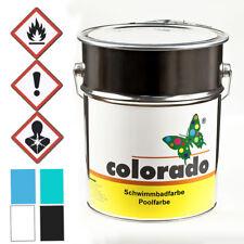 colorado Schwimmbadfarbe Poolfarbe Teichfarbe 5 L, bassinblau/lichtblau RAL 5012