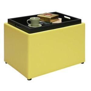 Convenience Concepts Designs4Comfort Accent Storage Ottoman, Yellow - 143523Y