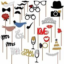 31 Photo Booth Photobooth Wedding Props Moustache On A Stick Party Prop DIY