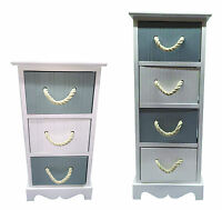 Wooden Slim 3 or 4 Drawer Storage Cupboard Bedside Table/Cabinet Unit UK
