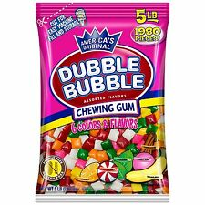 Bags Of Dubble Bubble Chew Tabs Assorted (10 lbs.) 2Ct 5Lb Bag X 2 - 10Lbs