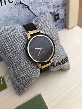 LAiMER Holzuhr Elisa - Damen Armbanduhr 100% Sandelholz, Golddesign, Top und Neu