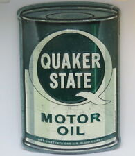 QUAKER STATE Oil  HALF CAN METAL GARAGE MAN CAVE COLLECTIBLE