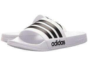 Man Adidas NEO CF Adilette Slide Sandal AQ1702 White/Black 100% Brand New
