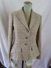 POLO RALPH LAUREN brown tattersall plaid wool silk blazer jacket 4 NWT NEW $598