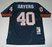 BEARS Gale Sayers signed jersey w/ HOF 77 JSA COA Autographed Green Bay Limited