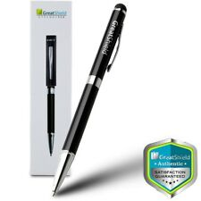 GreatShield Capacitive 2-in-1 Black Stylus and Ball Point Pen For Touch Screen