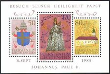 Liechtenstein 1985 Pope John Paul II/Papal Visit/People/Religion 3v m/s n41782