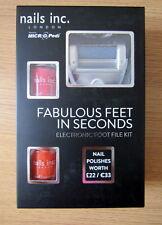 NAILS Inc x 2 e i Micro Pedi Elettronico Piede fascicolo Pedicure Kit+2 senza batterie AA
