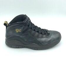 Nike Mens Air Jordan 10 Retro NYC Leather Basketball Shoes 310805-012 Black 10