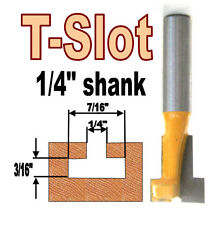 "1 pc 1/4"" SH T-Slot & T-Track Slotting To Fit 1/4"" Hex Bolt Router Bit  sct-888"
