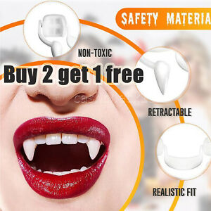 Halloween Vampire Horror False Teeth Cosplay Props Fangs Retractable Teeth UK