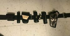 Plain Leather Duty Belt Size 3430 Police Security Gear Complete Set Equipment