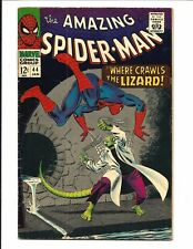 Amazing Spider-Man #44 (2ª App. El lagarto, Jan 1967 ), FN+