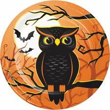 "Halloween Haunted House Owl 8 Ct 7"" Dessert Cake Plates"
