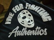 """Five for Fighting Authentics """"Can't beat em on the ice"""" t-shirt"""