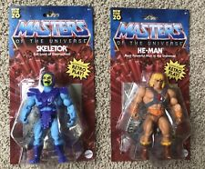 Masters of the Universe HE-MAN& SKELETOR Origins Retro Play Mattel Set MOTU NEW