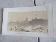 GRAVURE 1860 JERUSALEM PORTE SAINT ETIENNE MOSQUEE D OMAR