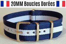 ★ 20MM ★ Bracelet Montre Watch Band Strap Nylon Nato Otan Militaire Army Bond