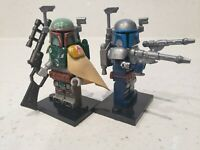 Custom Boba Fett and Jango Fett Minifigures Star Wars for Lego - USA SELLER