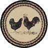 "Country Rustic Farmhouse CHICKENS Braided Jute 13"" Tablemat Trivet"