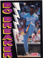BO JACKSON Kansas City Royals BO BREAKER Baseball Bat Card AWESOME PHOTO LE!