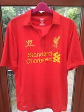 Liverpool Collared Football Shirt Warrior Standard Chartered Size Medium