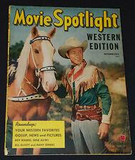 OCTOBER, 1949 - MOVIE SPOTLIGHT WESTERN EDITION - Vol.1 No.2 MAGAZINE - ORIGINAL