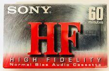 Sony HF High Fidelity 60min Blank Normal Bias Audio Cassette C-60HFC 1 Cassette