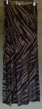 Zebra Print Skirt, Olive And Black Long Size Extra Small
