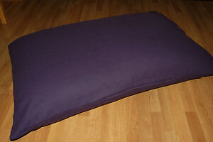LARGE PURPLE DOG PET BED PILLOW COVER Washable Zipped