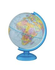 "Replogle 12"" Globemaster Rotating World Globe on Blue Plastic Stand"