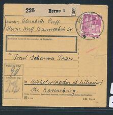 93746) Paketkarte Bauten 90PF EF ab Herne 1, 9.10.48