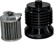 PC Racing - PCS4B - FLO Reusable Spin On Stainless Steel Oil Filter, Black