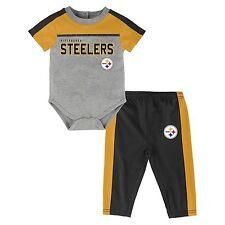 NEW NFL PITTSBURGH STEELERS 2 piece set onesie bodysuit pants children baby 12M