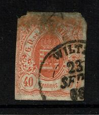 Luxembourg Sc# 12, Used, thinned top - Lot 040917
