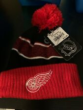 Boys DETROIT REDWINGS HAT CAP Red/White/black NEW With Tassle