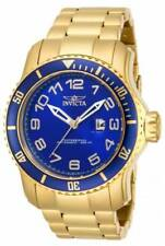 NEW Invicta 15347 Men's Pro Diver Scuba Gold Steel Bracelet Blue Dial Dive Watch