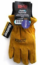 Kinco 350HKP-M HYDROFLECTOR Lined Water-Resistant Cowhide Gloves for Men, Medium