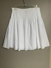 Bass Womens Skirt Size 4 White Cotton Flare