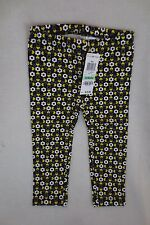 First Impression infant girl Leggings Size 18 Months Black Yellow Floral New