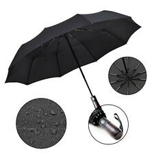 Umbrella Windproof Strong Automatic Open Close Umbrella Folding Compact UK
