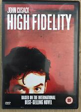 High Fidelity - John Cusack Jack Black Nick Hornby - Dvd Vgc