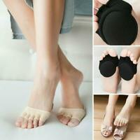 1 Pair Non-slip Corrective Toe Socks Forefoot Cushion Pad Open Toe Socks