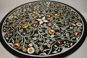 "30"" Marble sofa Center Table Top PietraDura Inlay Handicraft home decor"
