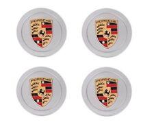 New Set Genuine Porsche Coloured Crested Alloy Wheel Centre Caps 993361303109A1