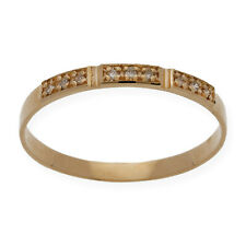 Alianza Unixes Oro 18K Diamantes Compromiso Boda.