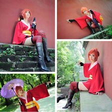 Kagura GINTAMA Dress Cosplay Costume Japanese Womens Ladies Kimono Outfit Suits